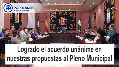 PP-Alcalá recibe el apoyo unánime de los otros partidos a todas sus propuestas