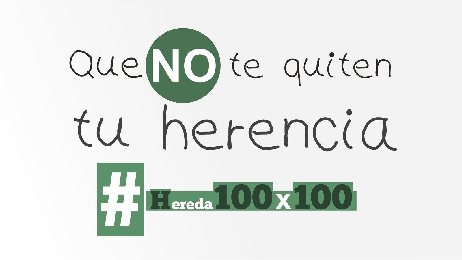 #Hereda100%: El PP andaluz recogerá el rechazo de la calle al Impuesto de Sucesiones