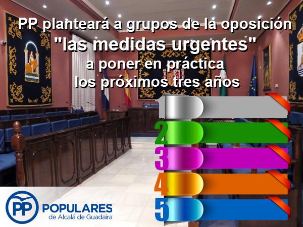 PP planteará esta tarde a grupos de la oposición «las medidas urgentes» a poner en práctica los próximos tres años