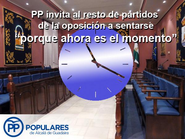 """PP invita al resto de partidos de la oposición a sentarse """"porque ahora es el momento"""""""