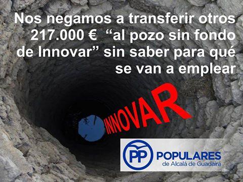Basta ya de transferir dinero injustificable desde el Ayuntamiento a la empresa «Innovar»