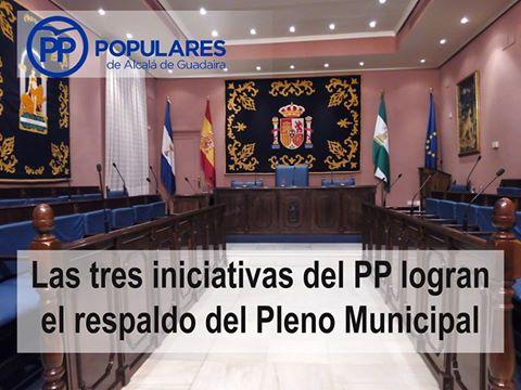 Iniciativas del PP aprobadas en el Pleno Municipal de Septiembre 2016