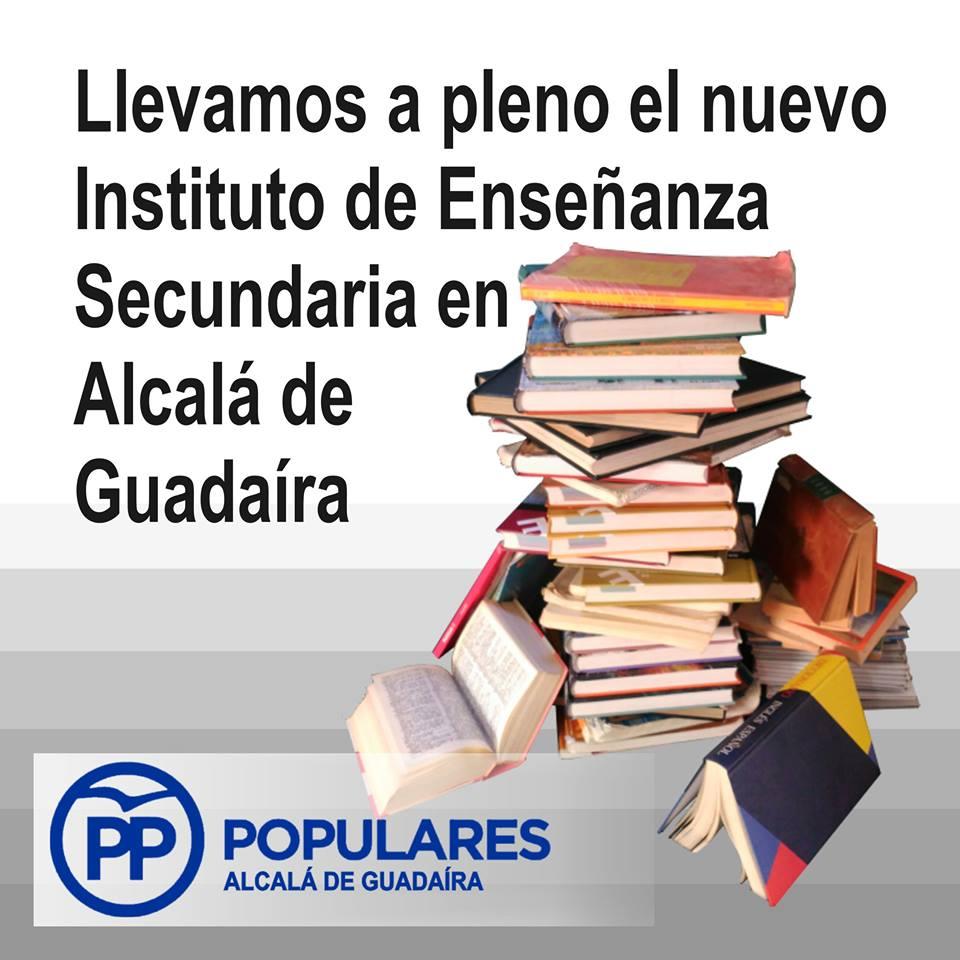 Proponemos abrir un nuevo Instituto en plazo necesario en Alcalá de Guadaíra – Moción 1 Pleno Octubre 2016