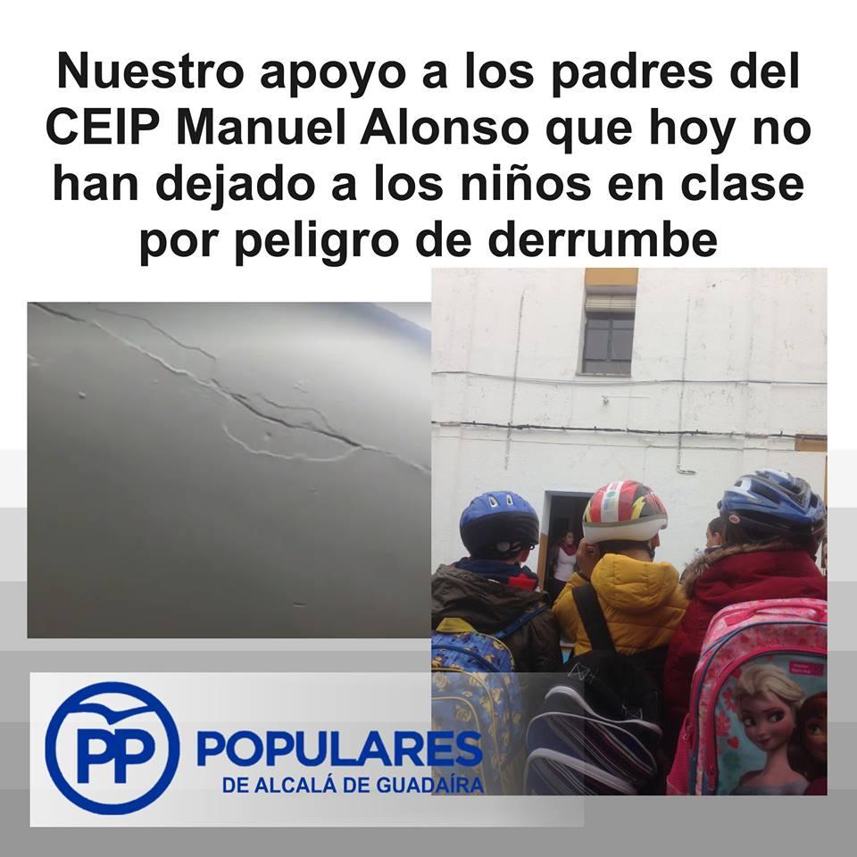 Importante y urgente arreglar las aulas del Colegio Manuel Alonso, aunque se haga otra vez tarde