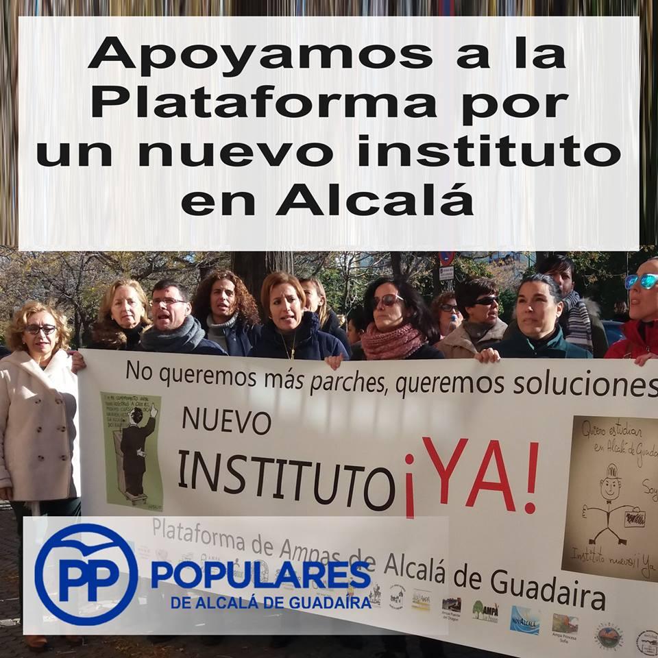 Con los AMPAS de Alcalá por un Instituto nuevo para nuestros hijos