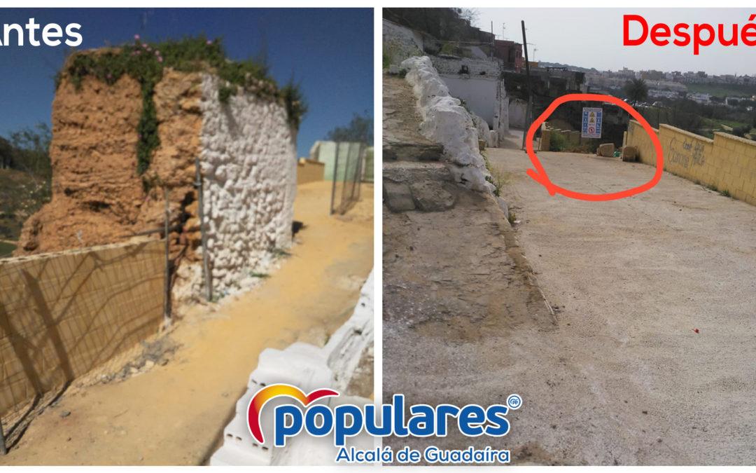 El PP de Alcalá denuncia la demolición, con nocturnidad y alevosía, de elementos patrimoniales del entorno del Castillo por parte del Gobierno de Jiménez (PSOE-Cs)