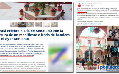"""El Ayuntamiento de Alcalá y la alcaldesa se inventan efemérides y celebran """"los 41 años del Estatuto de Autonomía"""" dos años antes"""